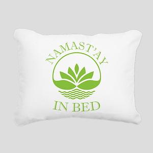 Namast'ay in bed Rectangular Canvas Pillow