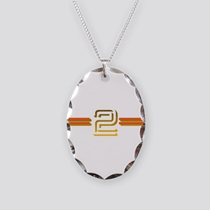 BBC 2 Necklace Oval Charm