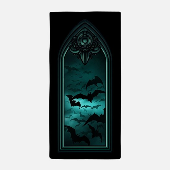Gothic Bat Window 4 of 6 Beach Towel