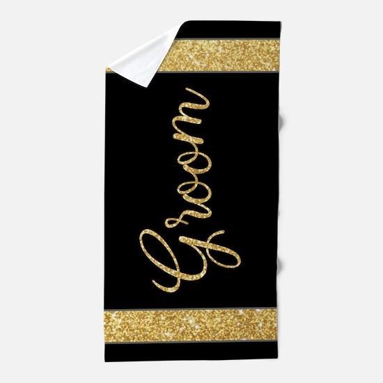 Gitter Gift for the Groom Beach Towel