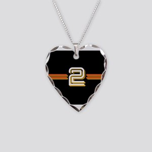 BBC 2 Necklace Heart Charm