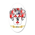 Miley 35x21 Oval Wall Decal