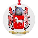 Miles Round Ornament