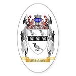 Mikulasek Sticker (Oval 10 pk)