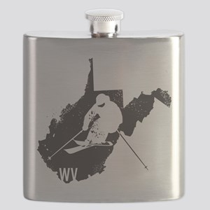 Ski West Virginia Flask