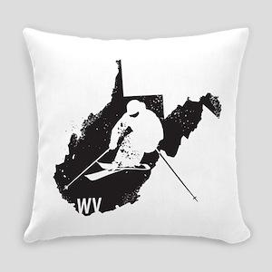 Ski West Virginia Everyday Pillow