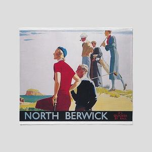 North Berwick, Scotland; Vintage Golf Travel Poste