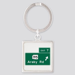Araby Road, AZ Square Keychain