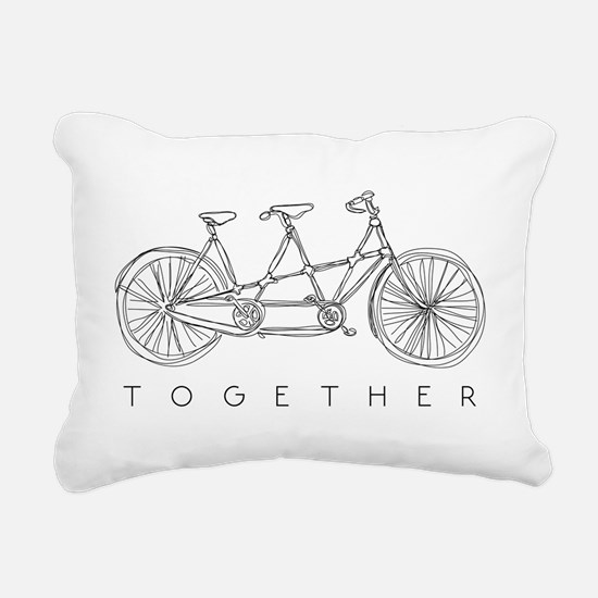 TOGETHER TANDEM BIKE Rectangular Canvas Pillow