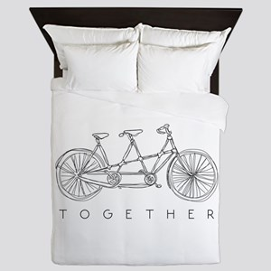TOGETHER TANDEM BIKE Queen Duvet