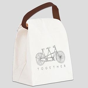 TOGETHER TANDEM BIKE Canvas Lunch Bag