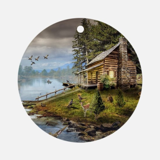 Wildlife Landscape Round Ornament