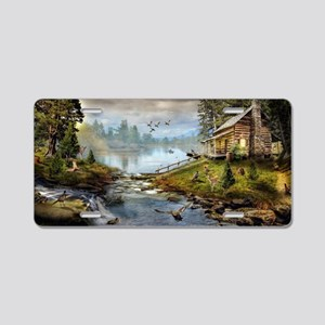 Wildlife Landscape Aluminum License Plate