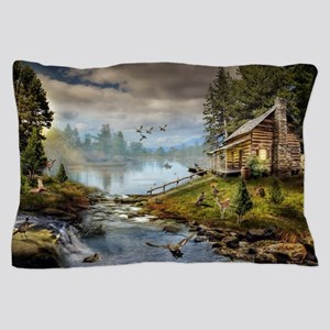 Wildlife Landscape Pillow Case