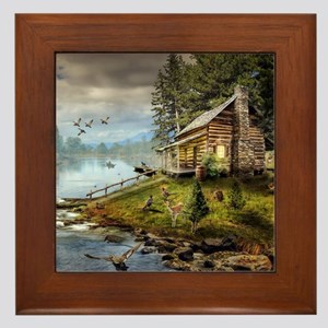 Wildlife Landscape Framed Tile