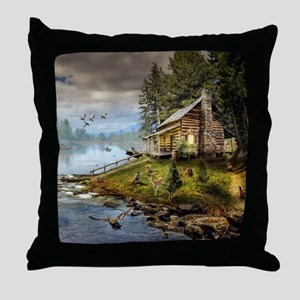 Wildlife Landscape Throw Pillow