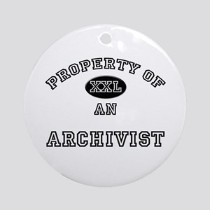 Property of an Archivist Ornament (Round)