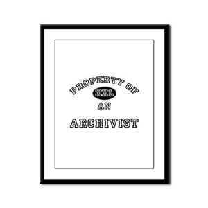 Property of an Archivist Framed Panel Print