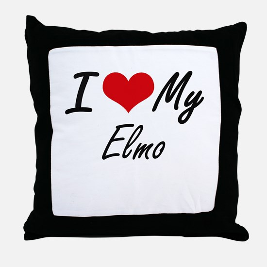 I Love My Elmo Throw Pillow