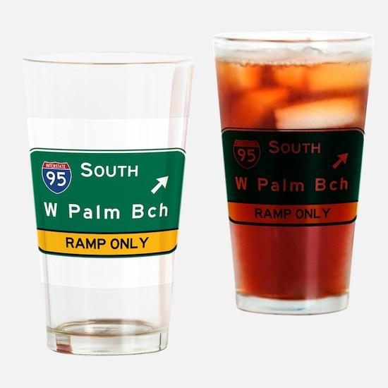 West Palm Beach, FL Drinking Glass