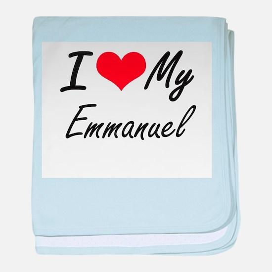 I Love My Emmanuel baby blanket