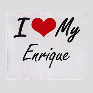 I Love My Enrique Throw Blanket