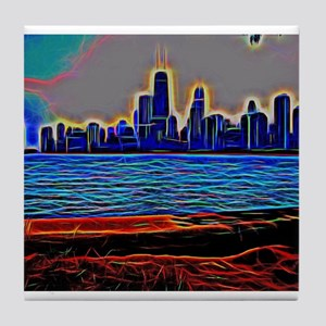 Chicago from the Lake Tile Coaster
