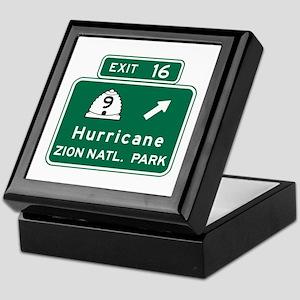 Hurricane-Zion Natl Park, UT Keepsake Box