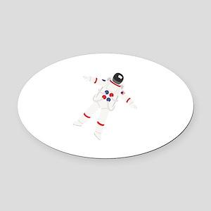 Astronaut Oval Car Magnet