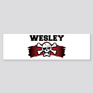wesley is a pirate Bumper Sticker