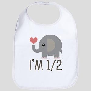 Half Birthday Baby Elephant Bib