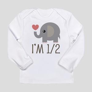 Half Birthday Baby Elephant Long Sleeve T-Shirt