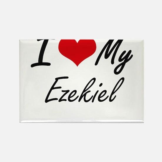 I Love My Ezekiel Magnets
