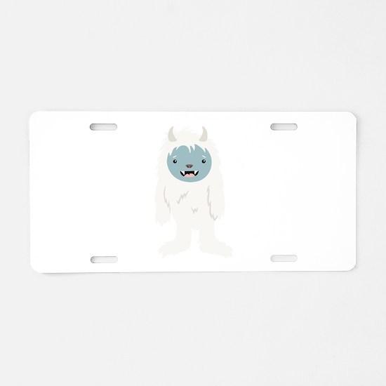 Yeti Creature Aluminum License Plate