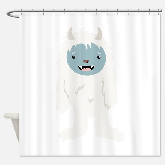 Yeti Creature Shower Curtain