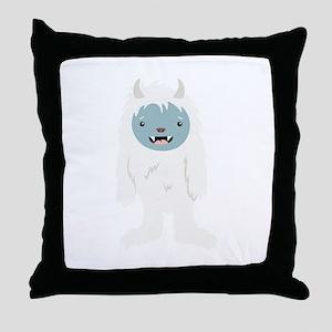 Yeti Creature Throw Pillow