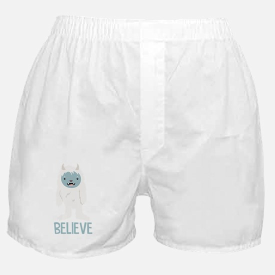 Believe In Yeti Boxer Shorts