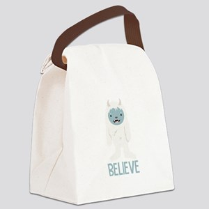 Believe In Yeti Canvas Lunch Bag