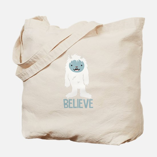 Believe In Yeti Tote Bag