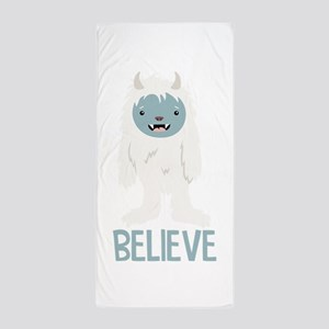 Believe In Yeti Beach Towel