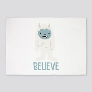 Believe In Yeti 5'x7'Area Rug