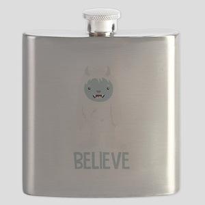 Believe In Yeti Flask