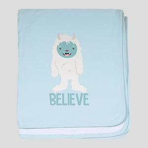 Believe In Yeti baby blanket