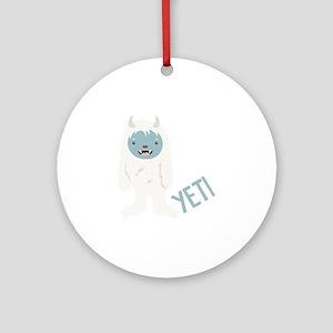 Yeti Monster Round Ornament