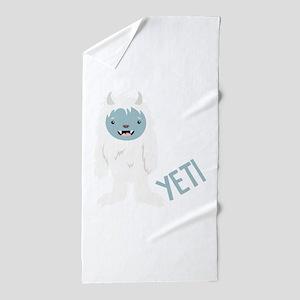 Yeti Monster Beach Towel