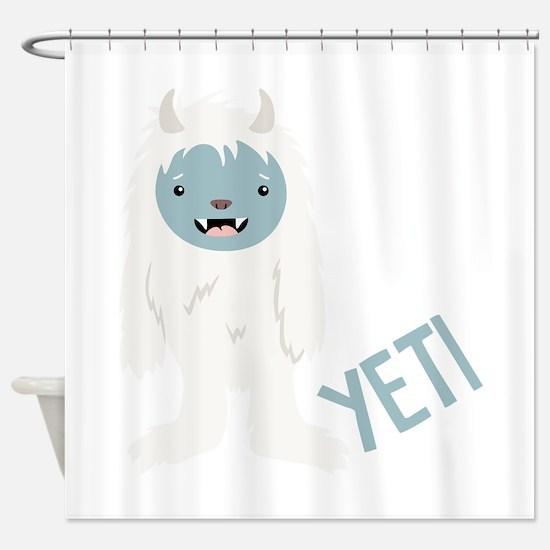 Yeti Monster Shower Curtain