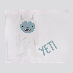 Yeti Monster Throw Blanket