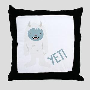 Yeti Monster Throw Pillow