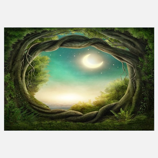 Magic Moon Tree Wall Art