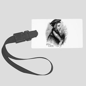 John Calvin Profile Large Luggage Tag